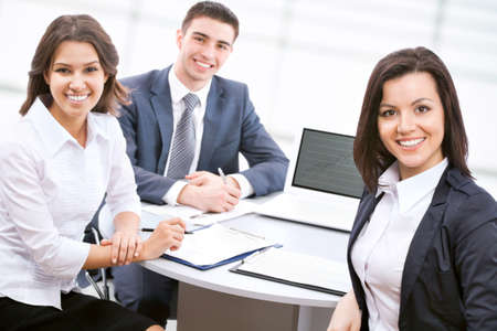working life: Young business people are working together at office Stock Photo