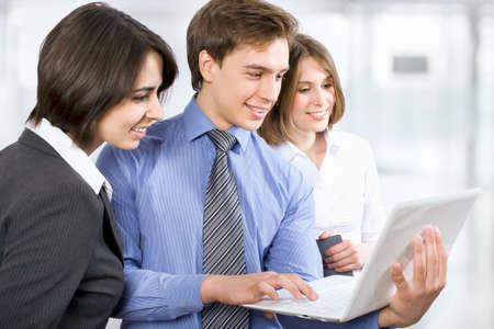 go inside: Business people working in modern office