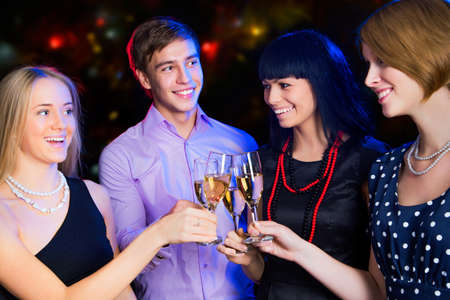 Happy people relaxing together at party Stock Photo - 16099282