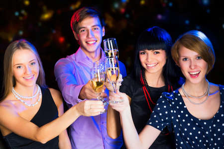 Happy people relaxing together at party Stock Photo - 16113281