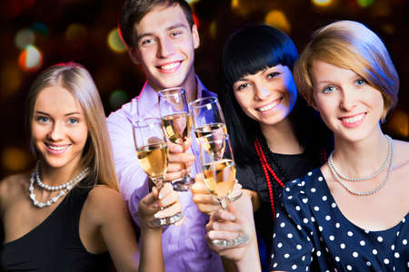 Happy people relaxing together at party Stock Photo - 16099285