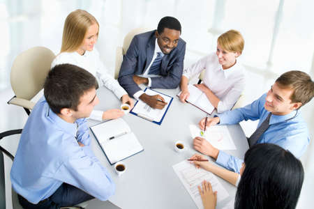 Business people working together. A diverse work group. Stock Photo - 16098846
