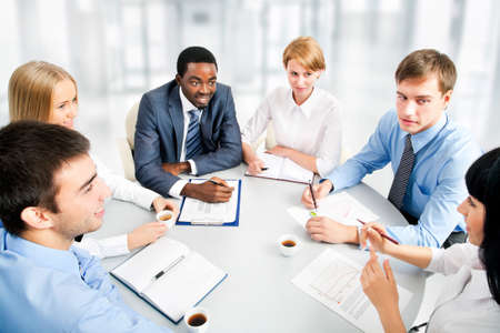 Business people working together. A diverse work group. Stock Photo - 16113326