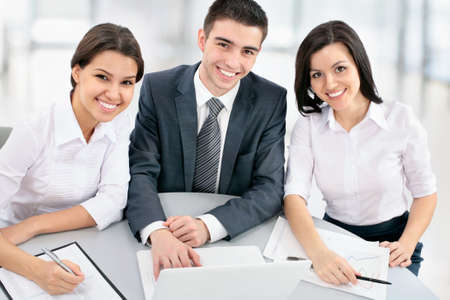 Young business people working in the office Stock Photo - 18609496