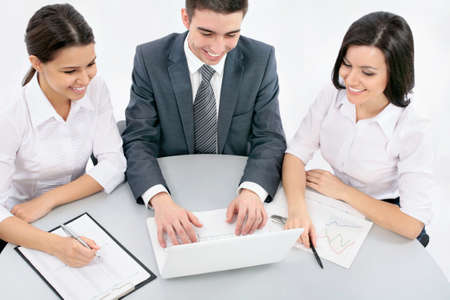 Young business people working in the office Stock Photo - 19163881