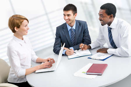 Business group meeting portrait - Business people working together. A diverse work group. Stock Photo - 19385498