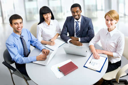 Business group meeting portrait - Business people working together. A diverse work group. Stock Photo - 19385525
