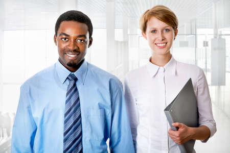 Business people working together. A diverse work group. Stock Photo - 19562717