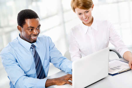 Business people working together. A diverse work group. Stock Photo - 19562712