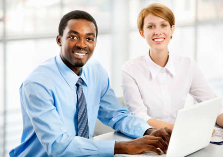 Business people working together. A diverse work group. Stock Photo - 19562692