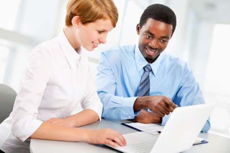 Business people working together. A diverse work group. Stock Photo - 19562706