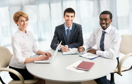 International group of business people working together. Stock Photo - 19562681