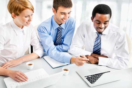 Image of businesspeople working at meeting Zdjęcie Seryjne