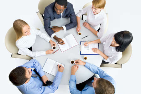 Business people working together. A diverse work group. Stock Photo - 19562731
