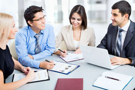 legal advice: Business people in a meeting at office