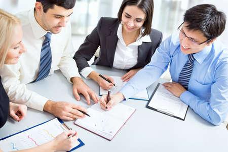 Executivos em uma reuni Imagens