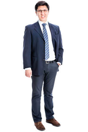 Young business man on a white background Stock Photo - 21258412