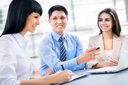 A business team plan work in office photo