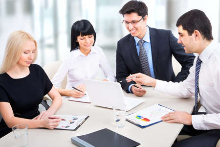 businessteam: Business people working together in an office