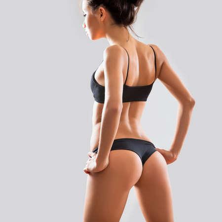 nalga: Beautiful sexy mujer en ropa interior  Foto de archivo