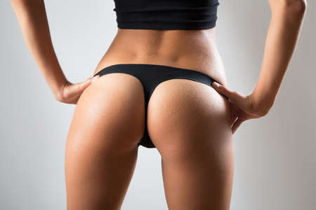 sexy woman panties: Beautiful slim body of woman in lingerie