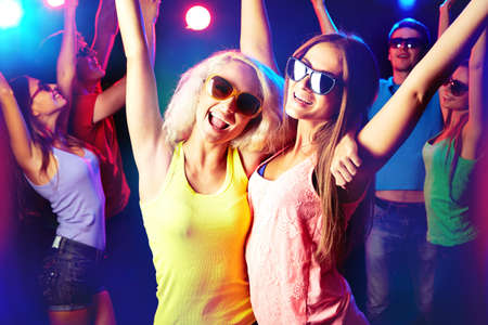 having fun: Young people having fun dancing at party. Stock Photo