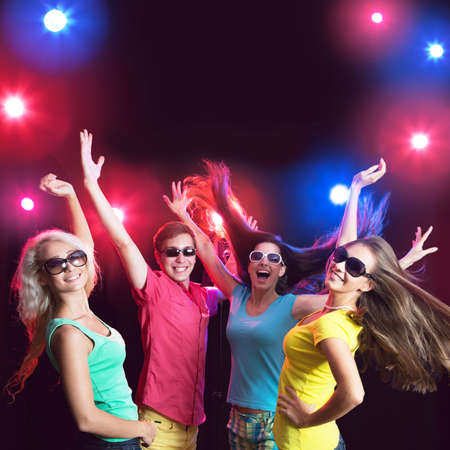 Young people having fun dancing at party. Stock Photo - 23220863