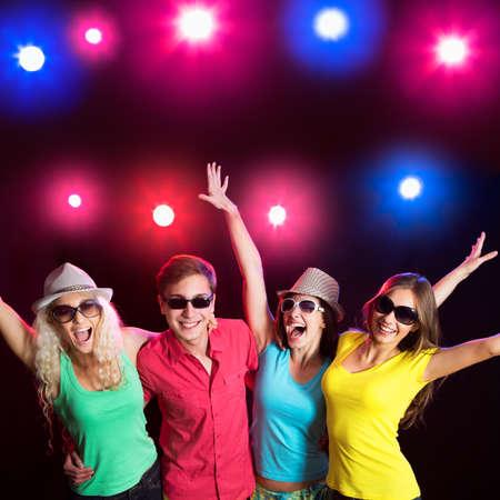 Young people having fun dancing at party. Stock fotó