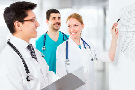 clinical staff: Portrait of a smart young doctors works in a hospital