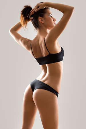 Fitness femme avec un beau corps Banque d'images