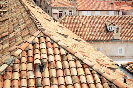 Dubrovnik, Croatia. Tiled rooftops of old town. photo