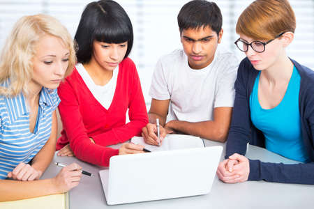 studygroup: Young students studying together