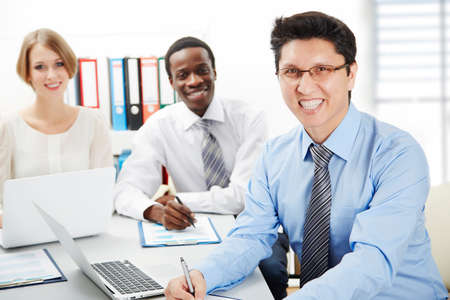 International group of business people working together. Stock Photo - 29890562