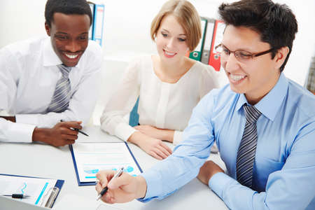 International group of business people working together. Stock Photo - 29890564