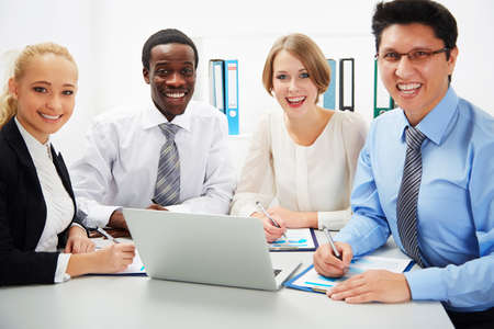 International group of business people working together. Stock Photo - 29890565