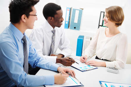 International group of business people working together. Stock Photo - 29890566
