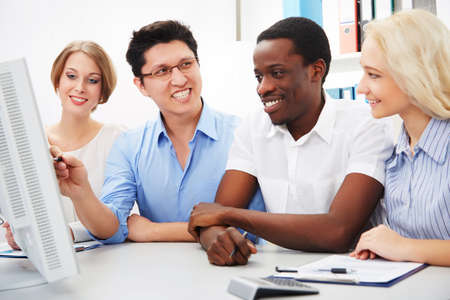 International group of business people working together. Stock Photo - 29890569