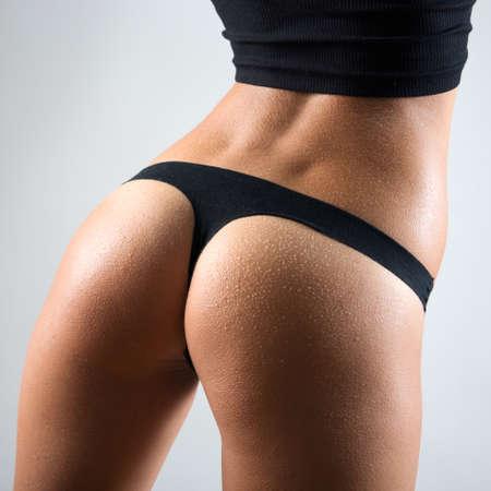 body line: Beautiful slim body of woman in lingerie