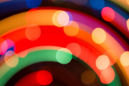 Bright background of dynamic lights.  Firework photo