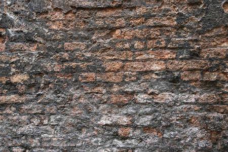 Antiguo muro de ladrillo, fondo de la vendimia
