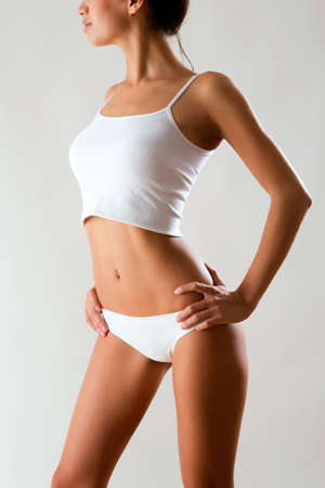 figures: Beautiful woman with perfect figure in underwear