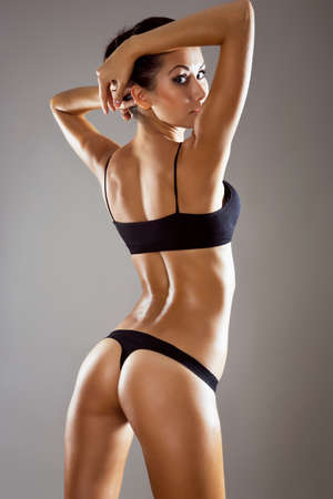 Beautiful woman with perfect figure in underwear photo