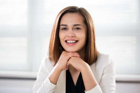 Succesvolle zakelijke vrouw portret Stockfoto
