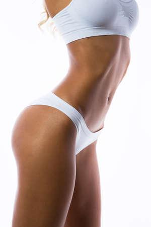 Belle corps mince d'une femme en lingerie Banque d'images - 78452918