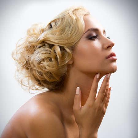 Face of beautiful sexy woman