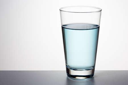Glass of fresh water Banco de Imagens