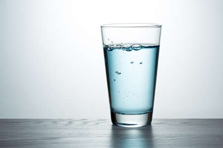 Glass of fresh water Stock Photo