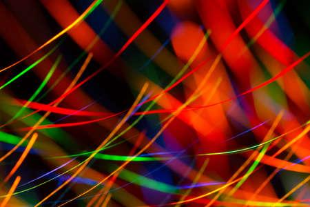 어두운 배경에 밝은 색 동적 조명의 추상 그림 스톡 콘텐츠