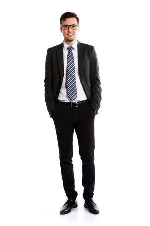 白い背景の若いビジネスマン 写真素材