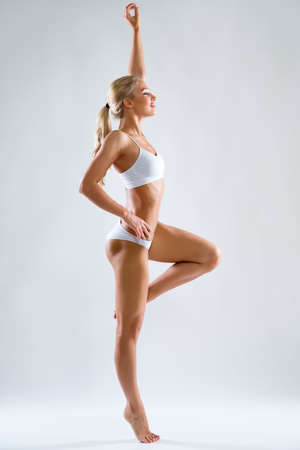 Beautiful fitness woman with a perfect body Archivio Fotografico